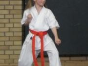 Meine Tochter in Action beim Karate