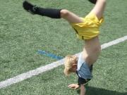 Der Jubel am Spielfeldrand :-) (Unser Sohn, auf dem Bild fast 6 Jahre alt)