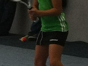 Meine Tochter 2011 bei ihrem ersten Kleinfeld-Tennisturnier.
