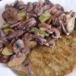 Zucchini-Champignon-Pfanne
