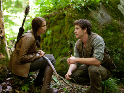"Katniss Everdeen (Jennifer Lawrence) and Gale Hawthorne (Liam Hemsworth) in ""The Hunger Games."" (Credit: Lionsgate)"