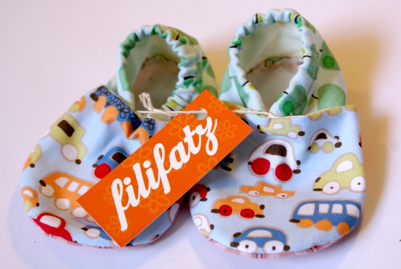Einfach süß! Babyschuhe aus Stoff von filifatz