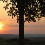 Ein Sonnenuntergang auf dem Land