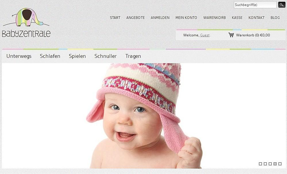 Schon der erste Blick auf den Babyzentrale-Shop verrät: Hier sind Profis am Werk!