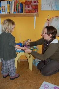 Ein Händchen für die Arbeit mit Kindern: Nadine Augustat Lehmann