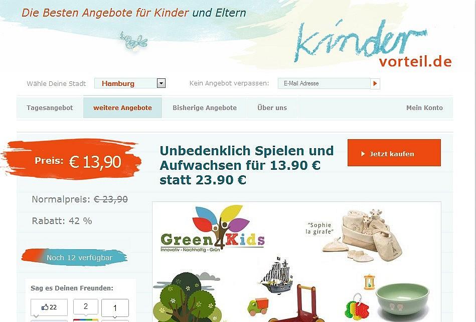 Eine herzliche Einladung sich zu registrieren - KinderVorteil.de