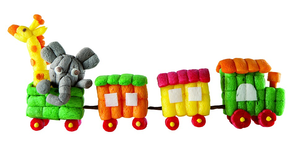 Bastelvorlage für den PlayMais-Zug