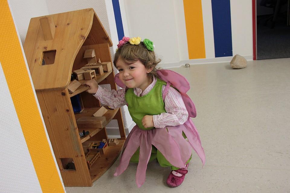 Unsere kleine Elfe beim Kindergartenfasching