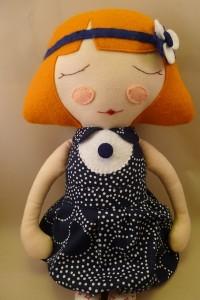 Handgefertigte Puppe Mathilda von Catinka Hinkebein Berlin