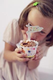 Cupcake oder Muffin passend verpackt