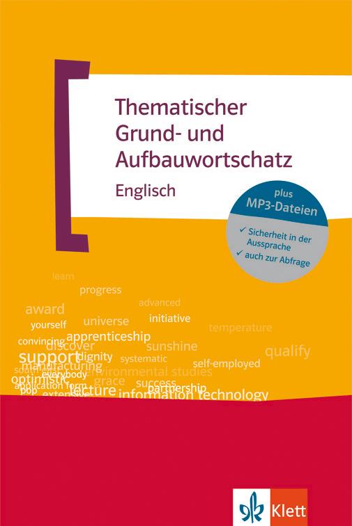 Thematischer Grund- und Aufbauwortschatz von Klett: Buchcover