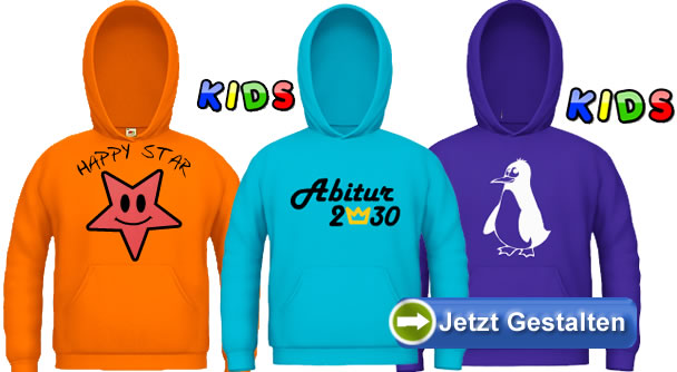 Kinder-Hoodies - www.shirt-selbst-gestalten.com