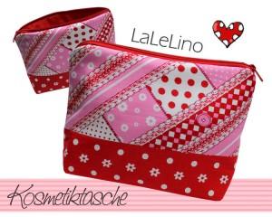 Kosmetiktasche in allen Farben von LaLeLino - liebevolle Handarbeit