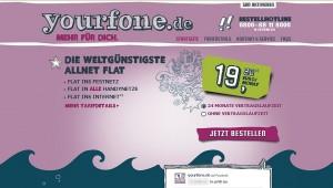 Günstige All-Net-Flat gibts bei yourfone.de