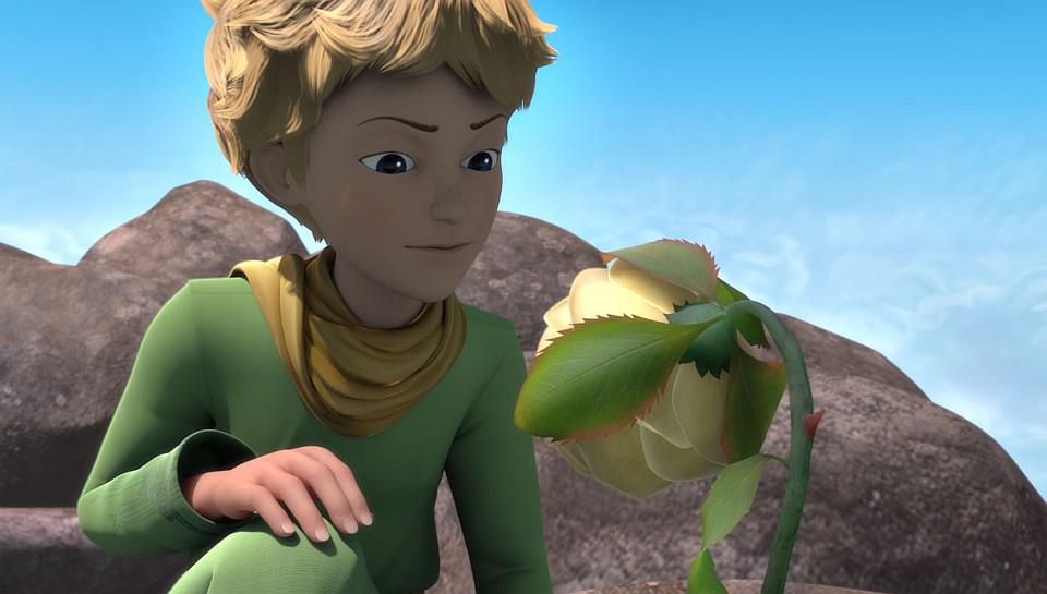 Der kleine Prinz und seine Rose. Aus der Animationsserie. Bild: WDR/ARD