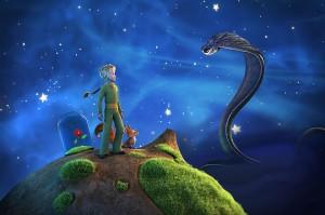 Der kleine Prinz und der Fuchs im Gespräch mit der Schlange. Aus der Animationsserie. Bild: WDR/ARD