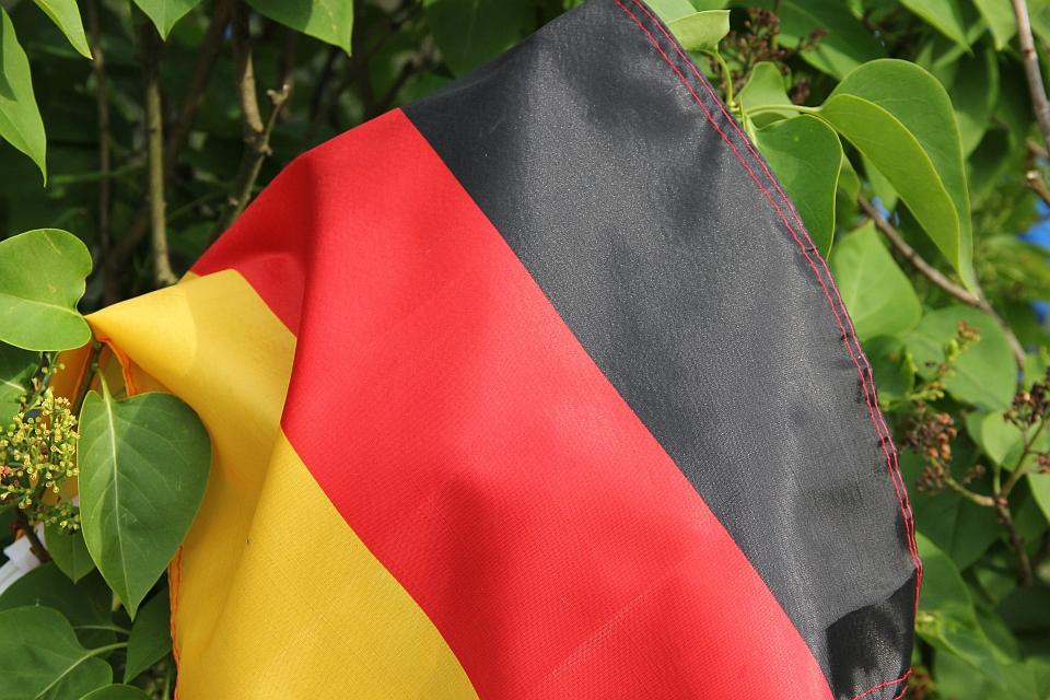 Deutschlandfahne im Flieder