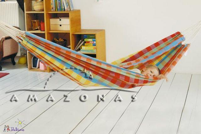 Die Baumwoll-Kinderhängematte von Amazonas gibts bei Lekimo