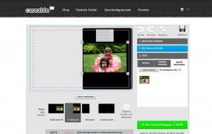 Caseable Screnshot: Online-Tool Designer zum Selbstgestalten von iPad-Hüllen