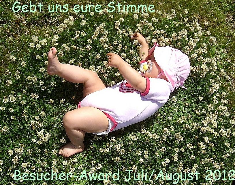 Mädchen im Klee liegend - Einladung zur Abstimmung Besucher-Award Juli/August 2012