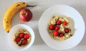 Frühstücksbrei aus Hirse und Früchten ruckzuck gezaubert und richtig lecker!