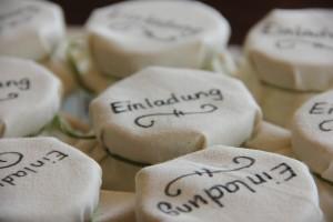 Marmeladenglas als Einladung zum Kindergeburtstag - Deckel