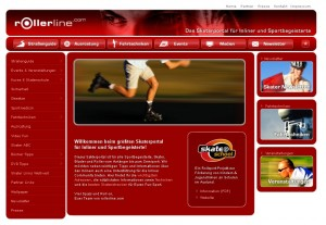 Screenshot Startseite Rollerline.com - Juli 2012