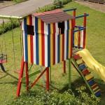 Fertig, fertig, fertig: Das Land-und-Kind.de kunterbunte Spielhaus