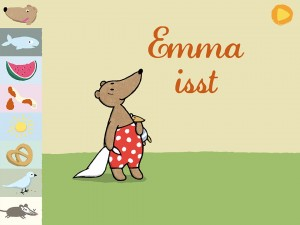 "Screenshot App ""Emma isst"": Startbildschirm (© Carlsen Verlag)"