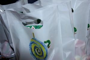 Mitgebsel-Tüten für den Raupe Nimmersatt Geburtstag