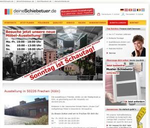 Screenshot DeineSchiebetür.de - Einladung zur Ausstellung