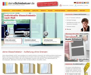 Screenshot DeineSchiebetür.de - Einfach selber planen