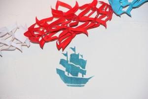 Piraten-Deko - Girlande und Wandmalerei