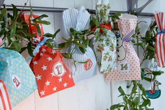 Adventskalender_Sticker und Tüten von Krima und Isa bei Baby-and-Freinds