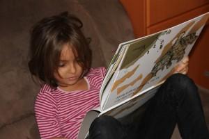 """Mädchen liest """"Als das Nashorn fliegen lernte"""" - Nadia Adina Rose"""