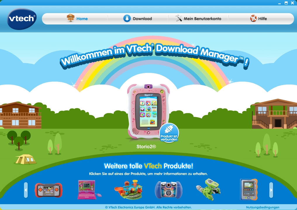 VTech Download-Manager: erfolgreich verbunden