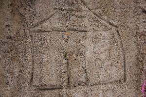 Haus - Sandzeichnung - Peggy Zawilla