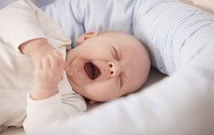Baby schläft mit Nestchenschlange - Grünwalds Manufaktur