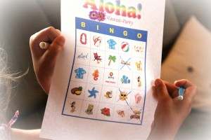 Aloha Bingo ist ideal für die Hawaii-Party