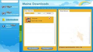 Kidizoom Touch: Meine Downloads. Screenshot: Land-und-Kind.de