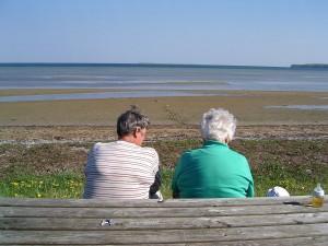 Zwei Generationen - Oma und Ur-Oma beim letzten Generationen-Urlaub