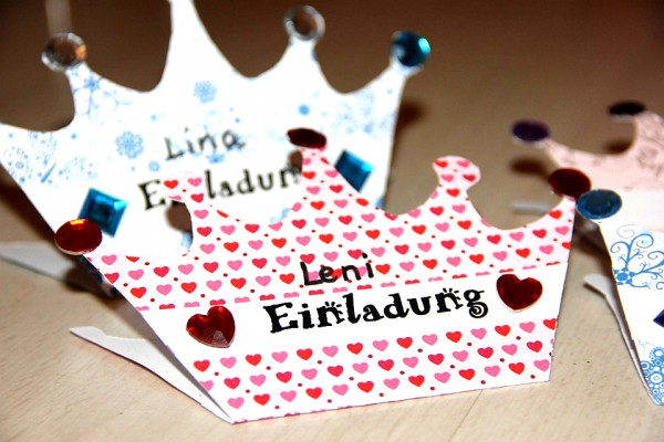 Einladung, Prinzessin, Krone, Geburtstags-Party