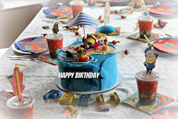 Unser Minions-Geburtstagstisch