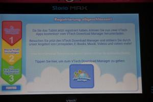 Storio MAX 7 von VTech: Registrierung abgeschlossen, Foto: Land-und-Kind.de