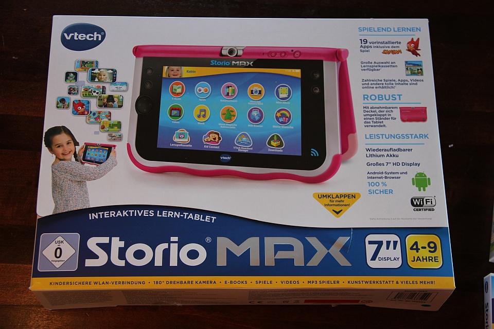 Storio MAX 7 von VTech: Packung des Tablets, Foto: Land-und-Kind.de