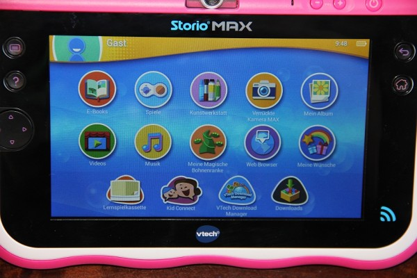 Storio MAX 7 von VTech: Display des Tablets, Foto: Land-und-Kind.de